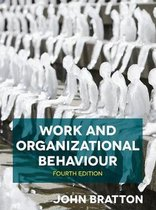 Work and Organizational Behaviour