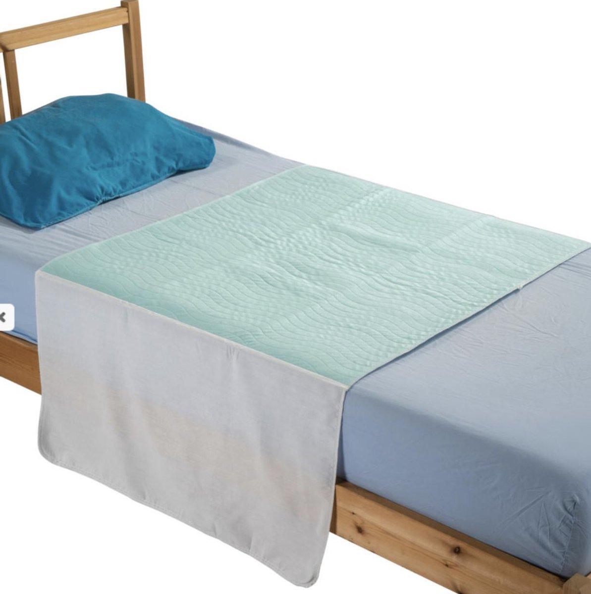 Wasbare matrasbeschermer met instopstroken 85x90cm bedbeschermer - incontinentie onderlegger