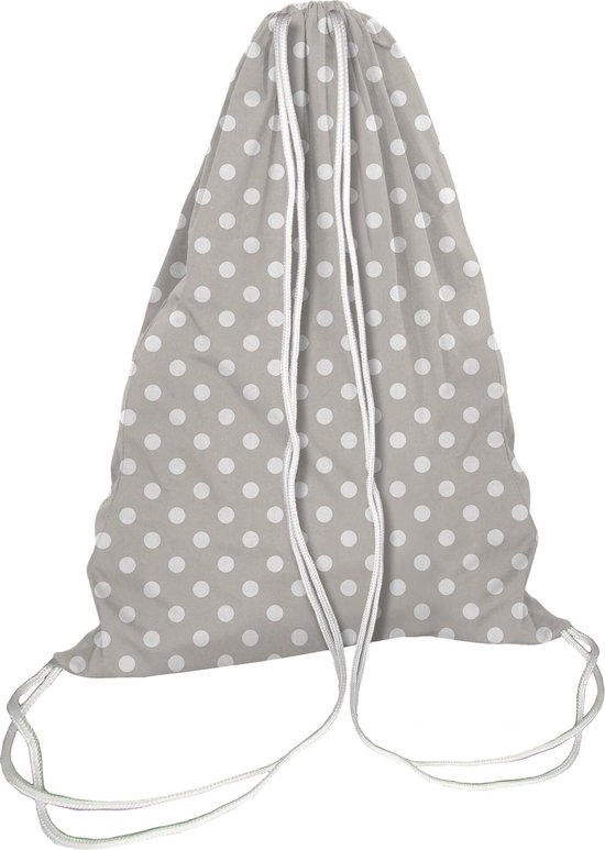 Waszak rugzakje - Jersey cotton - Grey dots- 30x40 cm