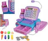 Kassa Speelgoed - Speelgoedkassa - Speelgoedwinkel - Compleet met rekenmachine, speelgoedgeld, scanner, en meer - Winkeltje Kinderen - Supermarkt - Kinderspeelgoed - Interactief - Multi Colour