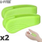 U-Fit One® Groen 2 Stuk Draagbare Acupressuur- Hoofdpijn - Migraine - Energie - Stress - Ontspanning - Kalmerend - Pijnverlichting - Spanning - Stijfheid - Nekklachten - Schouderklachten - Rugklachten - Yoga - Balans - Natuurlijke Genezing - Drukpunt