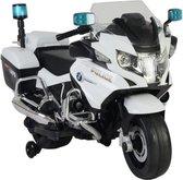 Kinderen Elektrische politiemotor BMW 12v met rubber banden en met stuur muziek