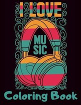 I Love Music Coloring Book