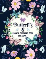 Butterfly & flower Coloring Book for Adults