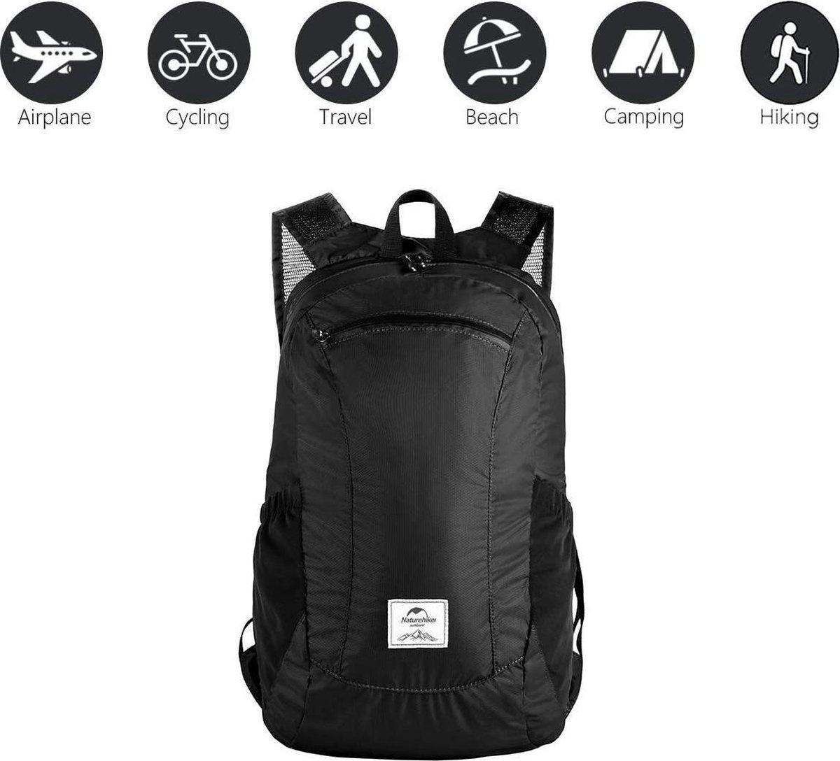 Opvouwbare Backpack / Daypack - Water Bestendig - Outdoor - Lichtgewicht - 18 Liter - Zwart