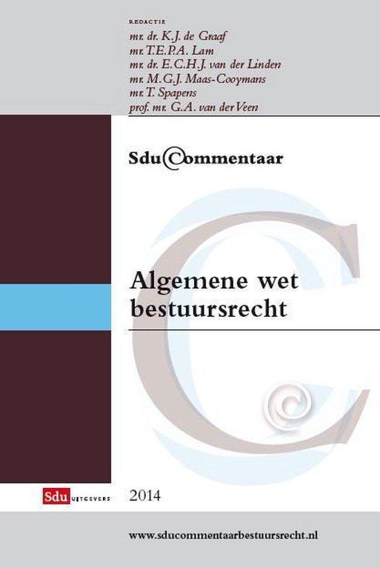 Boek cover Sducommentaar  -   Algemene wet bestuursrecht van  (Hardcover)