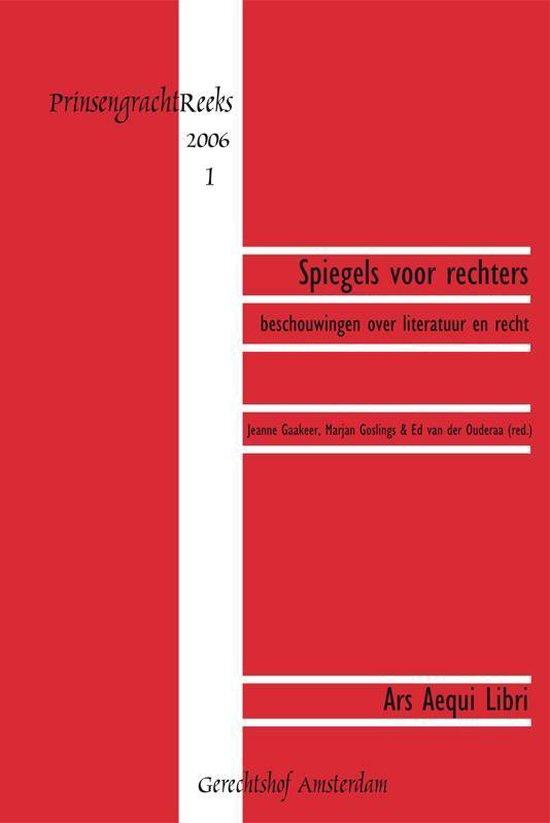 Boek cover Prinsengrachtreeks  -   Spiegels voor rechters van  (Paperback)