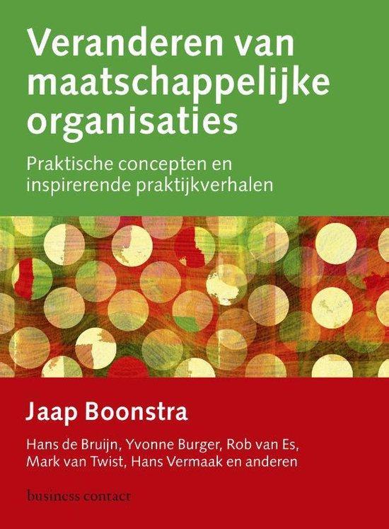 Boek cover Veranderen van maatschappelijke organisaties van Jaap Boonstra (Paperback)