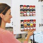 Kruiden organizer 4X | 20 kruidenpotjes| Kruidenrekje | Opbergen | Kruidenrek ophangbaar | Kruidenrek voor kruidenpotjes | Spices Storage | Kruiden Ophangen | Kruidenrek | Keukenrek | Kruiden opbergen | Specerijen rek | - Wit