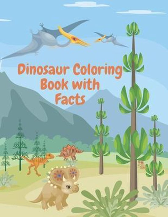Dinosaur Coloring Book with Facts
