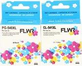 FLWR - Inktcartridges / PG-540XL/CL-541XL / 2-pack - Geschikt voor Canon