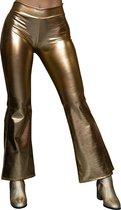 Glanzende disco legging - goud - flare legging - ballet - dans legging - hiphop - carnaval - jaren 70 - jaren 87