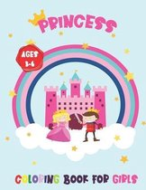 Princess Coloring Book for Kids Ages 3-6