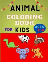 Animal coloring book for kids ages 4-8: Easy Educational Coloring Pages for Boys & Girls, Little Kids, Preschool and Kindergarten