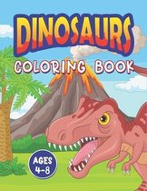 Dinosaur Coloring Book Ages 4-8