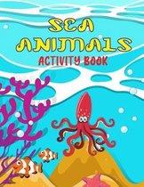 Sea animals activity book