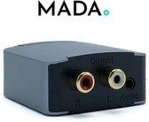MADA Digitaal naar Analoog Converter - DAC - 24 bit, 192 kHz - Optical, Coaxiaal, SPDIF, Toslink