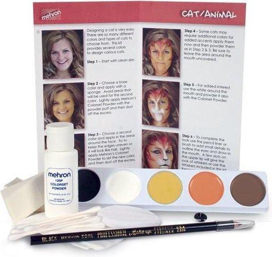 Bol Com Mehron Compleet Karakter Schmink Makeup Kit Kat Dier