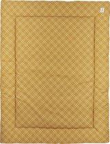 Meyco Double diamond boxkleed - 80x100cm - honey gold