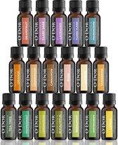 O'dor®  Top 18 - Etherische Olie- Aromatherapie Oliën Premium Geurolie - 100% Puur Biologisch - voor Aroma Diffuser Yoga Massage – Cadeau olieset set 5 ml / fles
