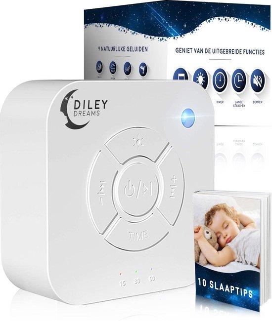 Diley Dreams® Original Slaaptrainer - Witte Ruis - White Noise Machine - Muziekdoosje Baby - Kinderen - Slaaphulp