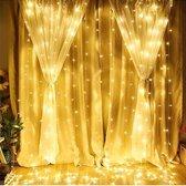 LED Kerstverlichting Binnen/Buiten – Lichtgordijn - 3x3 meter - Warm Wit