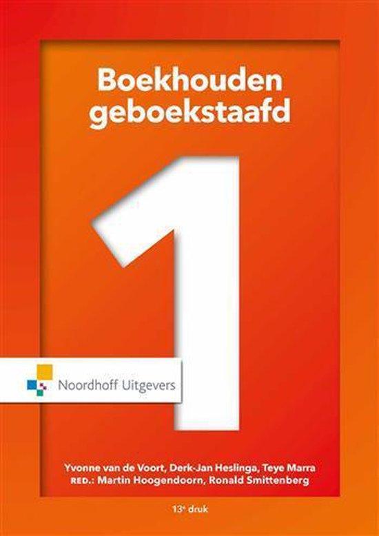 Boek cover Boekhouden geboekstaafd 1 incl. toegang tot Prepzone van W.J Broerse (Hardcover)