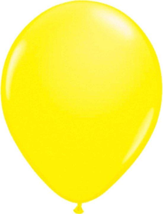 Neon gele latex ballon 25 cm