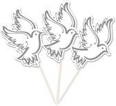 Feestartikel duiven op een stokje