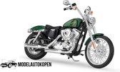 Harley Davidson XL 1200V Seventy-Two 2013 (Groen) 1/12 Maisto - Modelmotor - Schaal model - Model motor - harley davidson schaalmodel