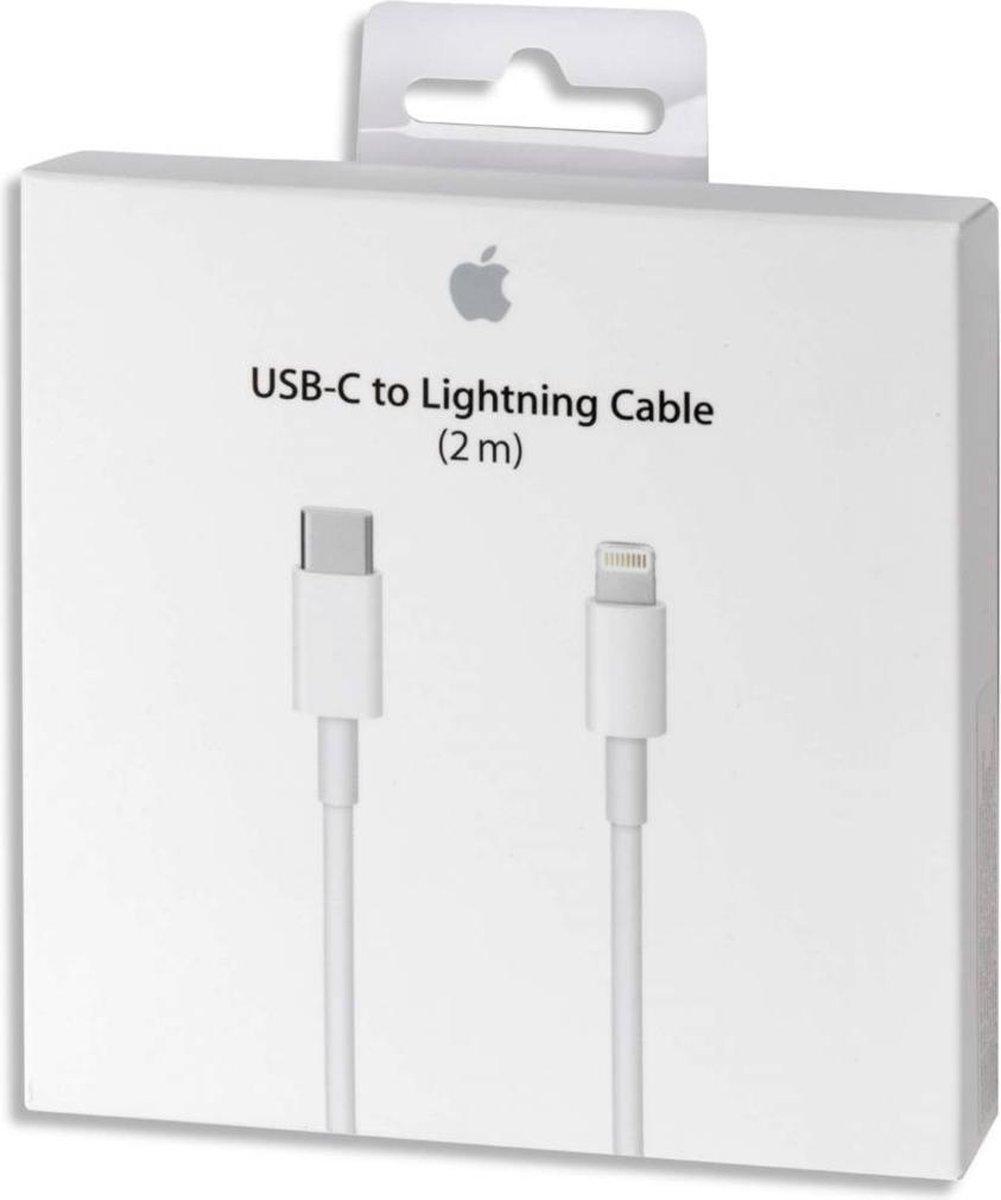 Apple USB-C naar Lightning kabel voor iPhone/iPad/iPod - 2 meter - wit