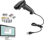 Professionele USB Barcode Scanner | USB Aansluiting| Universeel | Handscanner | Barcode Lezer| Zwart