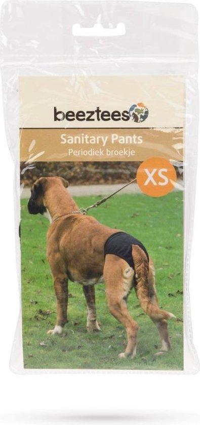 Beeztees Periodiek Broekje - Hond - Zwart - XS - 16-23 cm