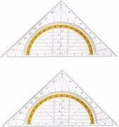 Afbeelding van 2x Geo driehoek 14 cm