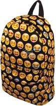 Emoji rugzak - 42cm hoog - Zwart