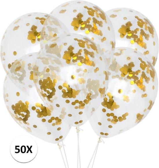 Confetti Ballonnen Goud 50St Luxe Feestversiering Verjaardag Bruiloft Ballon