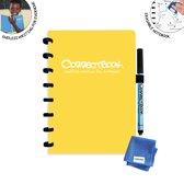 Whiteboard notitieblok / schrift - Correctbook - A5 - Gelijnd - Geel