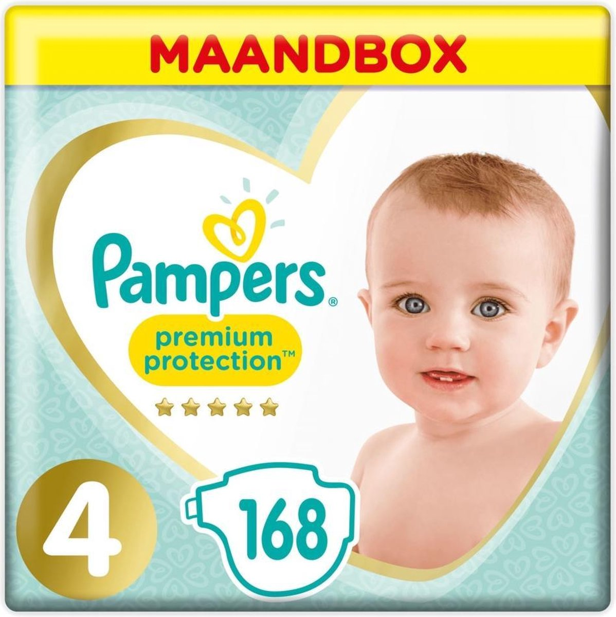 Pampers Premium Protection Luiers - Maat 4 - 168 Stuks - Pampers