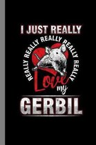 I Just Really Love My Gerbil: Animals Gift For Veterinarian and Pet Owners (6''x9'') Dot Grid Notebook To Write In