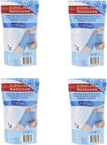 IJsverband | Koelbandage | Knieverband | Cold Bandage | Cooling | voor Blessures, stijve spieren en overbelasting | 3.2 meter | 10 CM | 4 stuks