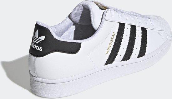 cuenta cada zona  bol.com | adidas Superstar Sneakers- Ftwwht/Cblack/Ftwwht - Maat 39 1/3