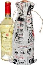 Linnen zakjes 16 x 37cm | 6 stuk | Franse Boetiek | 100% naturel linnenzak | wijnfles zakken wijnverpakking wijntas