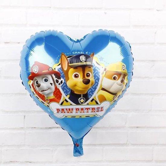 Paw patrol ballon hartvormig