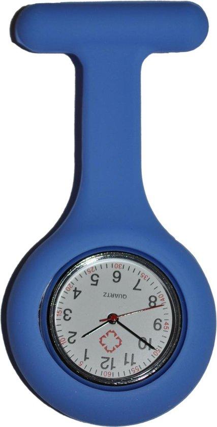 Unisex – Verpleeg horloge – Verpleegsterhorloge – Zusterhorloge – Siliconen – Blauw