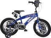 Dino Bikes Kinderfiets - BMX blauw/zwart: 16 inch