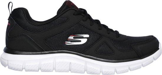 Skechers De Skechers Track  Sneakers - Maat 41 - Mannen - zwart,wit,rood