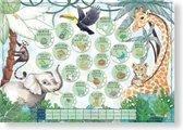 Mini Miles Milestoneposter Jungle Green | Uniek Kraamcadeau | Meisje en Jongen | Perfecte combinatie van: | Mijlpaalkaarten | Mijlpaaldeken | Babydagboek | Cadeau mama en zwangerschap |Poster babykamer | Kraammand | Kraampakket | Babyshower