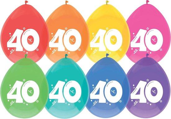 Ballonnen 40 jaar pak a 8 stuks
