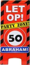 Paperdreams - Warning sign - 50 Jaar - Abraham