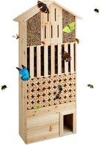 relaxdays - insectenhotel natuur groot XXL - insectenhuis - insecten huis - egel